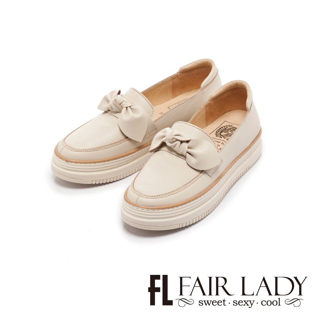 FAIR LADY Soft Power軟實力日系扭結樂福厚底休閒鞋 香草
