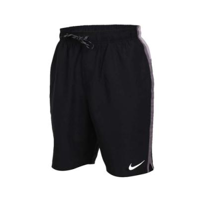 NIKE SWIM SWIM 男9吋海灘短褲-游泳 慢跑 路跑 海邊 黑灰白