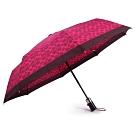 COACH 經典滿版C LOGO圖案全自動開闔晴雨傘-紫紅色