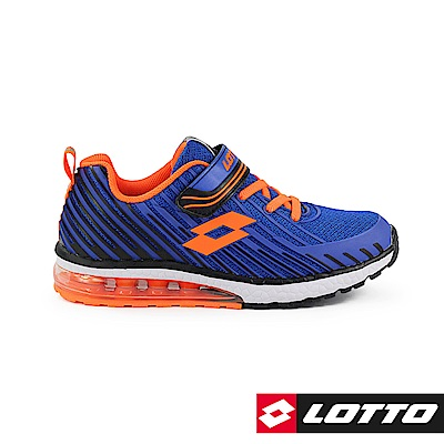 LOTTO 義大利 童 疾風 KPU氣墊跑鞋 (藍)