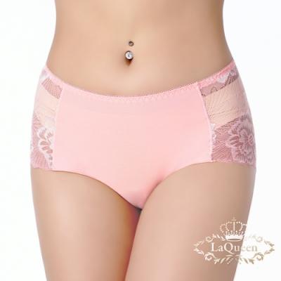 內褲 親膚透膚花紋設計小褲-橘 La Queen