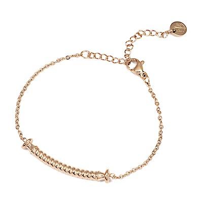 PAUL HEWITT 德國出品 Portside 繩紋玫瑰金色手鍊手環
