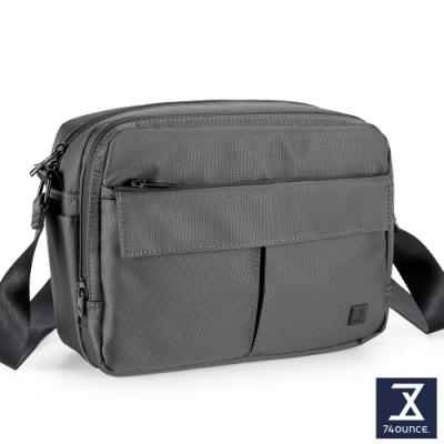 74盎司 U系列 雙層雙口袋側背包[G-1042-U-M]灰