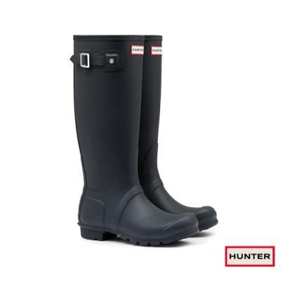 HUNTER - 女鞋 - Original霧面長靴 - 藍