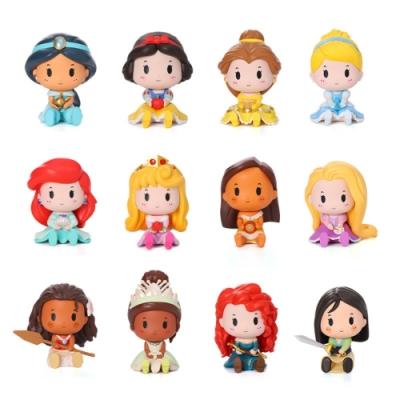 迪士尼 公主坐坐系列盒玩公仔(12入盒裝)