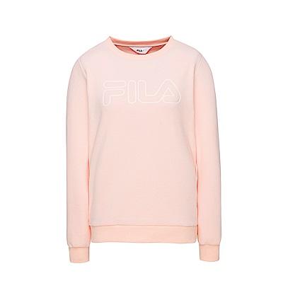 FILA 女款長袖圓領T恤-粉紅 5TES-5107-PK
