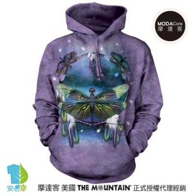 摩達客 美國The Mountain 蜻蜓捕夢 環保藝術長袖連帽T恤