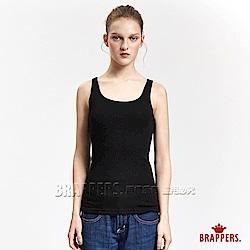 BRAPPERS 女款 百搭基本羅紋背心-黑