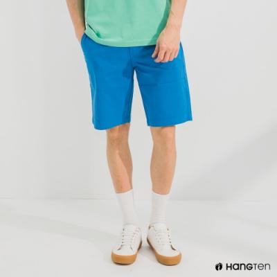 Hang Ten-男裝-REGULAR FIT經典彈性短褲-藍色