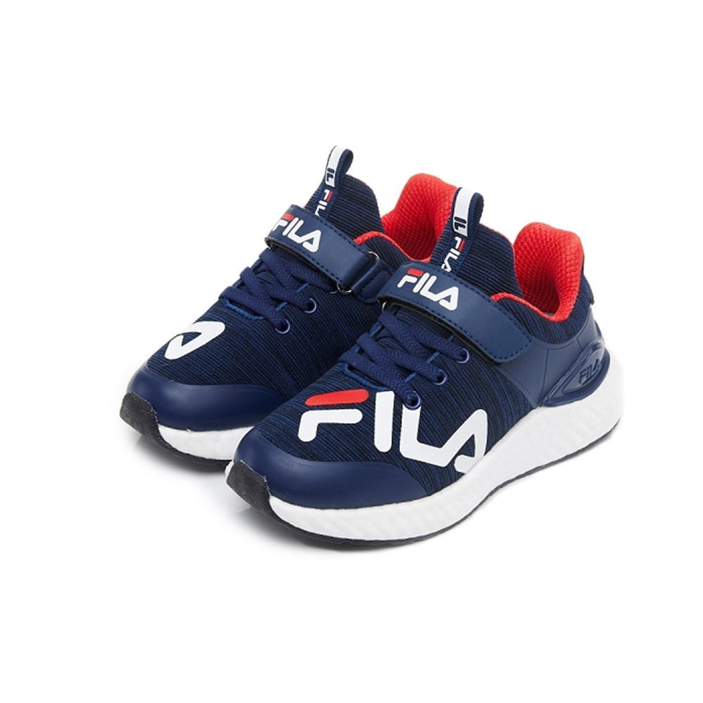 FILA KIDS 大童MD輕量慢跑鞋-藍 3-J809U-311