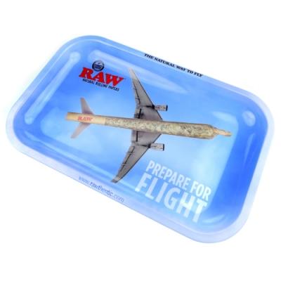 RAW 西班牙進口-FLIGHT TRAY(小款)-金屬製捲煙盤/鐵盤/收納盤/托盤