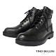 TINO BELLINI 男款牛皮個性風側拉鍊綁帶軍裝靴 product thumbnail 1