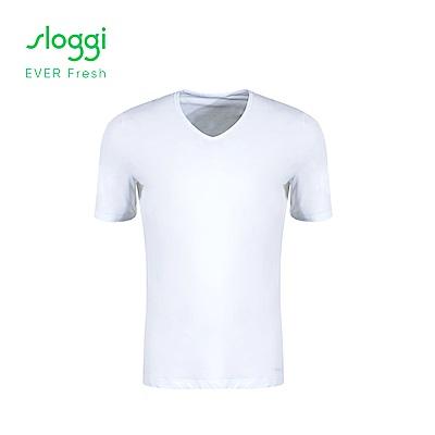 sloggi EVER Fresh系列 男士短袖內著上衣 純淨白