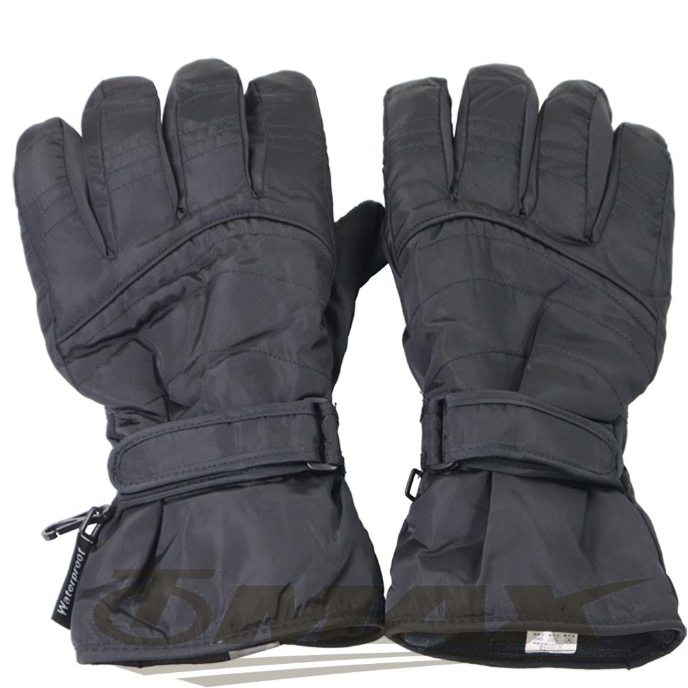 OMAX帥氣防寒防潑水機車手套-男用-黑色