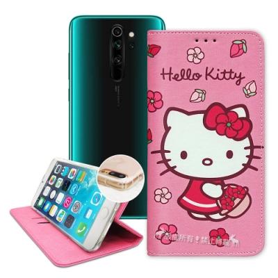 三麗鷗授權 紅米Redmi Note 8 Pro 櫻花吊繩款彩繪側掀皮套