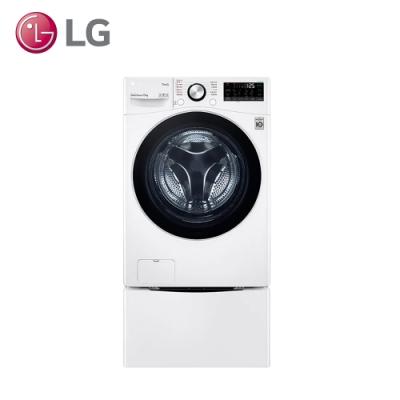 LG樂金 15公斤+2公斤 TWINWash 滾筒蒸洗脫洗衣機 WD-S15TBW+WT-SD200AHW 冰磁白