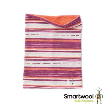 SmartWool NTS 250雙面兩用印花短頸套 粉橘/酒紅