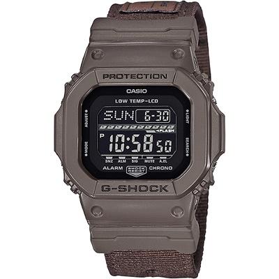 G-SHOCK 極限運動輕巧耐用數位錶-咖啡(GLS-5600CL-5D)/43mm