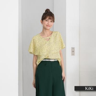 【KiKi】造型衣領設計款-襯衫(黃色/魅力商品/版型適中)