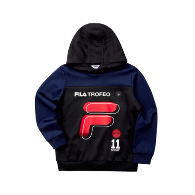 FILA KIDS 童針織連帽長袖T恤-寶藍 1TET-8401-AB