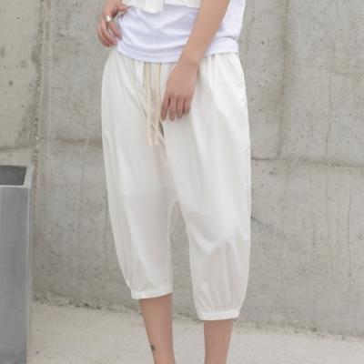設計所在Style-日系簡約寬鬆七分哈倫褲