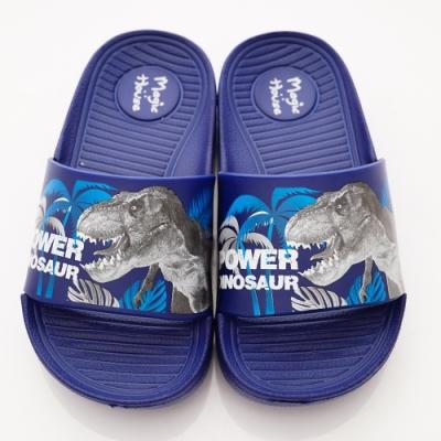 侏儸紀公園童鞋 卡通休閒拖鞋款 NI4716藍(中小童段)