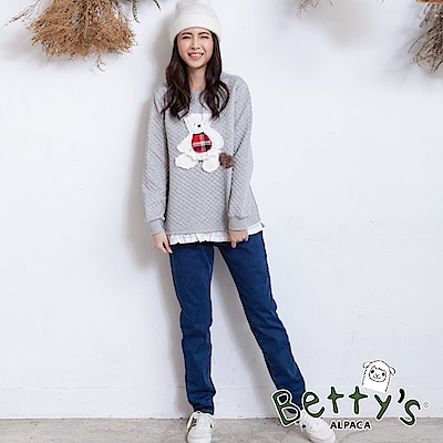 betty's貝蒂思 經典款刷毛牛仔褲(藍色)