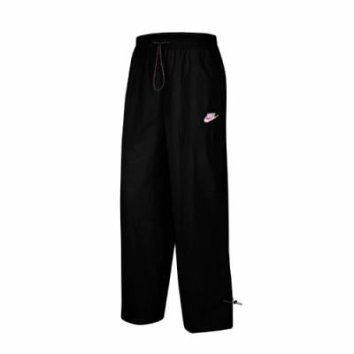 Nike 長褲 NSW Icon Clash Pants 女款 寬褲 九分褲 流行 休閒 穿搭 抽繩 黑 粉 CU5980010