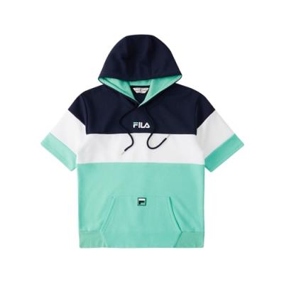 FILA 短袖連帽T恤-綠色 1TEV-1448-GN