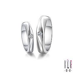 K OR蔻兒 Cherie&Cher親愛的鑽石/白鋼成對戒指