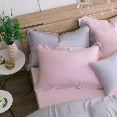 鴻宇 天絲枕套2入 天絲300織 歐式壓框枕套 潘貝拉 台灣製
