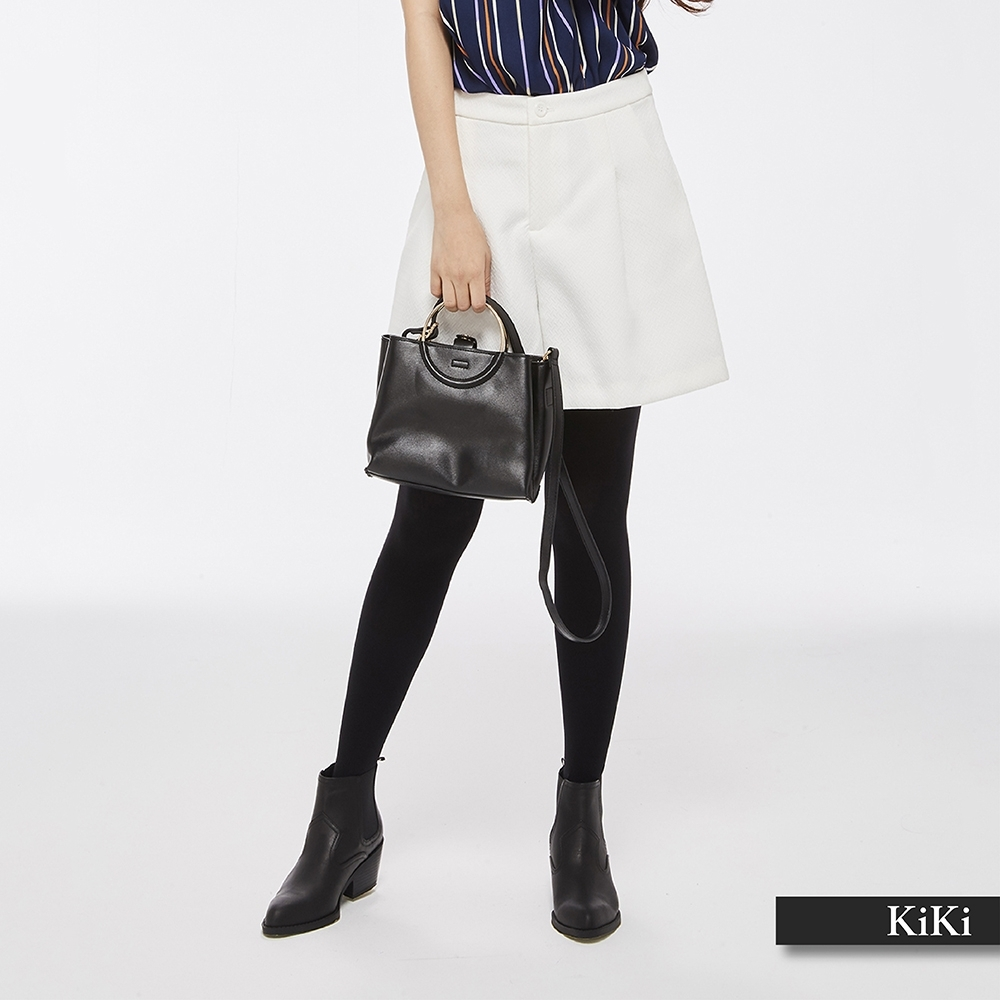 新降【KiKi】典雅修身設計-短褲(二色)