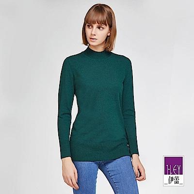 ILEY伊蕾 保暖羊毛高領針織上衣體驗價商品(黑/藍/綠/紅/桃/鐵灰)