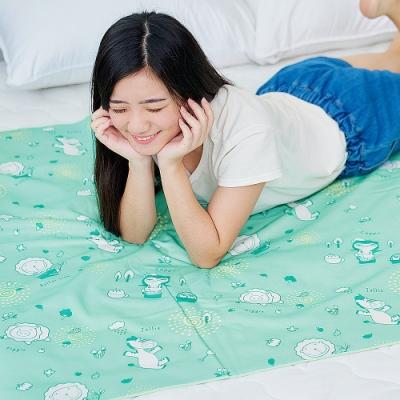 奶油獅-台灣製造-森林野餐ADVANTA超防水止滑保潔墊(中)105x150cm水綠