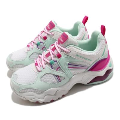Skechers 休閒鞋 D Lites 3 Air 厚底 女鞋 老爹鞋 修飾 耐磨 記憶型泡棉鞋墊 白 粉 149261WTQP