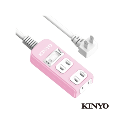 KINYO 1開3插安全延長線(6尺)SD2136