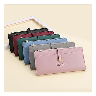 leaper 多功能多卡位女長夾手機包錢包 共5色