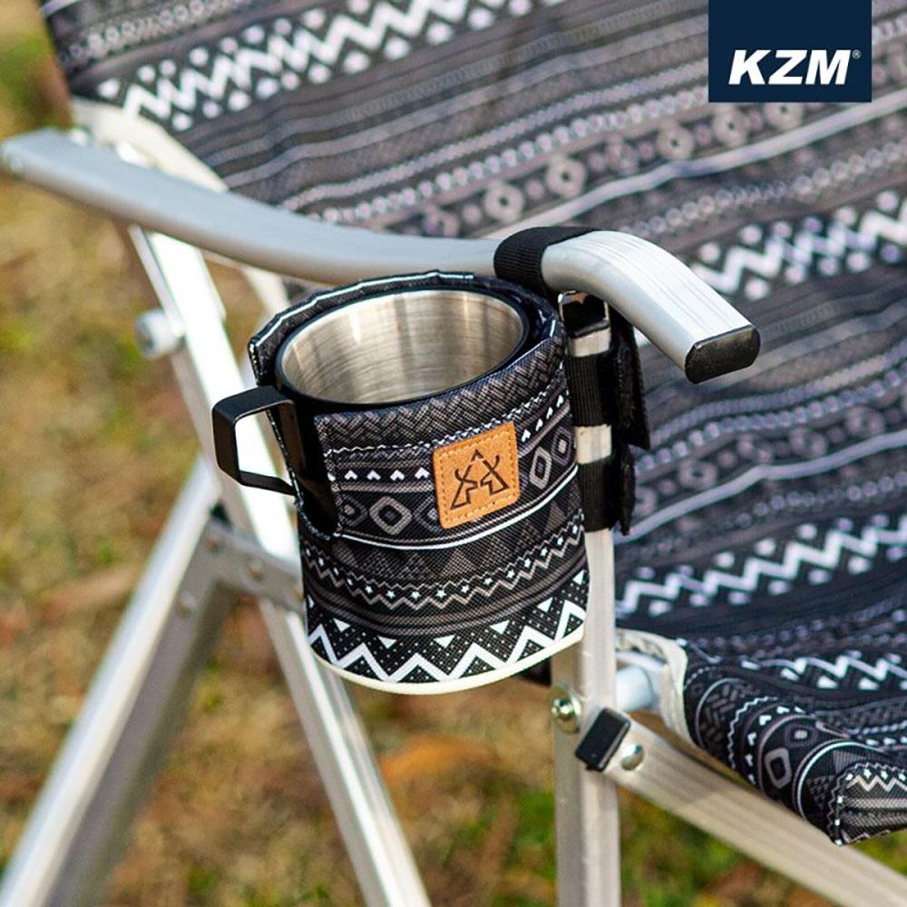 KAZMI KZM 彩繪民族風保溫杯套(黑色)