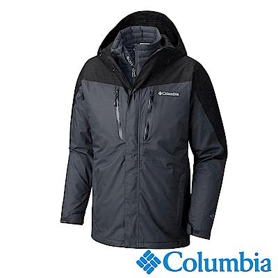 Columbia哥倫比亞 男款-Omni-Tech防水保暖兩件式外套-深灰