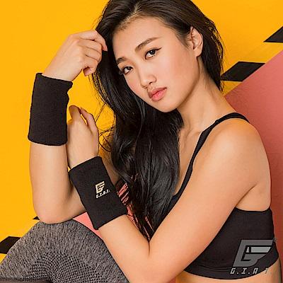 GIAT 男女適用毛巾吸汗運動腕帶(長款9x12cm-2雙入)