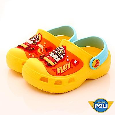 POLI童鞋 超輕量護趾涼鞋款 EI1024黃(中小童段)