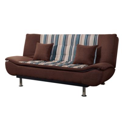 文創集 西亞棉麻布獨立筒沙發床(二色可選+展開式機能)-190x118x49cm免組