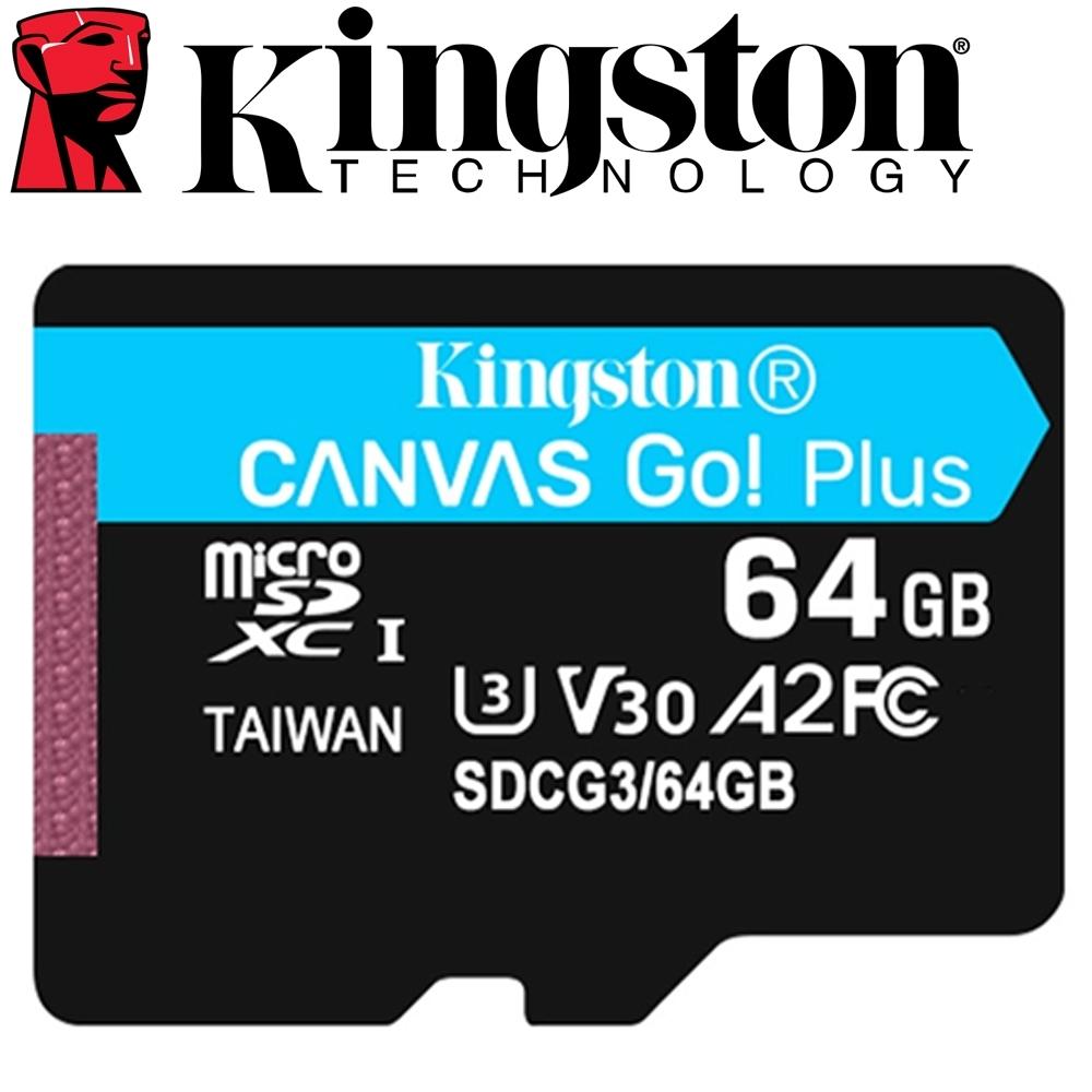 金士頓 Kingston 64GB 170MB/s U3 microSDXC UHS-I V30 A2 記憶卡 SDCG3/64GB