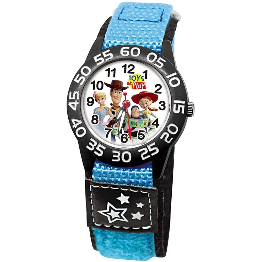 DISNEY迪士尼 Toy Story玩具總動員織紋手錶33mm黑殼
