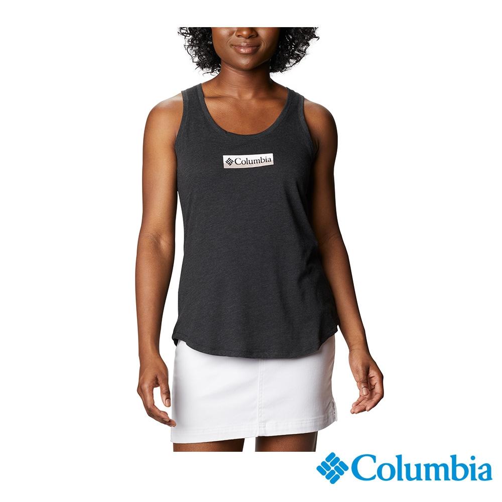 Columbia 哥倫比亞 男女款- LOGO棉短袖上衣-3色  活動款 (女款-黑色)