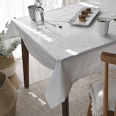完美主義 水洗白防水桌巾/餐桌巾/餐桌墊/蓋布/桌布/韓國製-130x180cm4人桌
