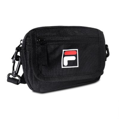 Fila 斜背包 Crossbody Shoulder Bag 斐樂 外出 小包 穿搭 背帶可調 輕便 黑 白 BMV3018BK