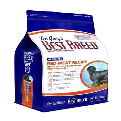 BEST BREED貝斯比-低敏無榖系列-無榖水牛肉+蔬果配方 4LBS(1.8KG) 2入 全年齡犬隻適用(購買兩件贈送寵鮮食零食1包)(贈全家禮卷50元1張)