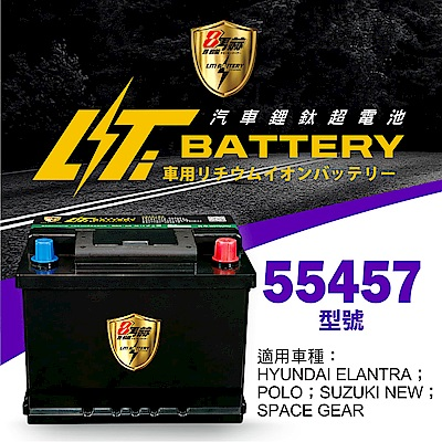 日本KOTSURU-8馬赫鋰鈦汽車啟動電瓶 55457 / 43Ah