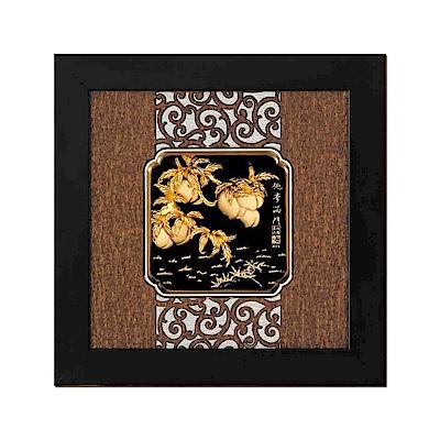 My Gifts 立體金箔畫-桃李滿門(框畫系列24.5x24.5cm)